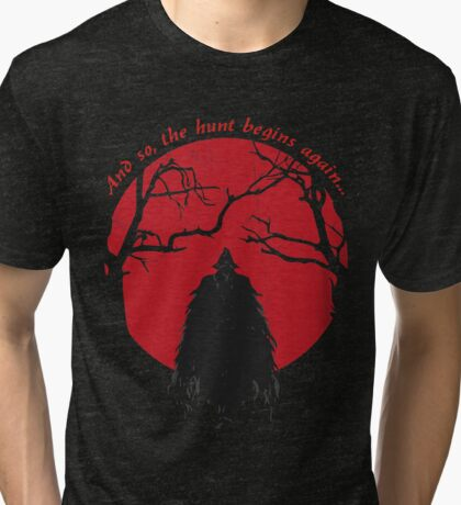 Bloodborne Hunter Tri-blend T-Shirt