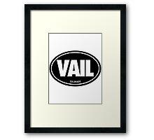 VAIL - EURO STICKER - Alternate Framed Print