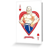 Alex Louis Armstrong Full Metal Alchemist Greeting Card