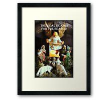 The Nativity - The Reason for the Season! Framed Print