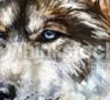 simplistic wolf Sticker