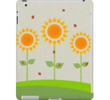 Sunflowers and Ladybugs Illustration iPad Case/Skin
