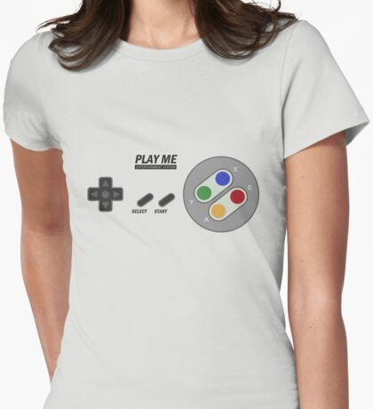 Video game - Play Me Abstract SNES Womens Fitted T-Shirt