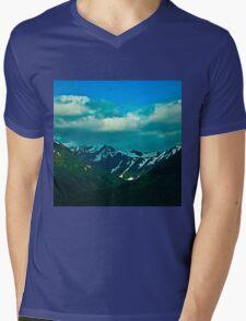 Snow capped mountains Alaska Mens V-Neck T-Shirt