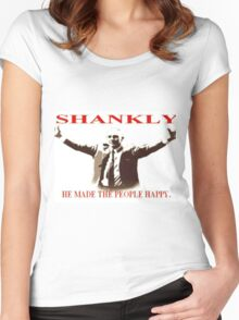 Shankly He made the people happy Women's Fitted Scoop T-Shirt