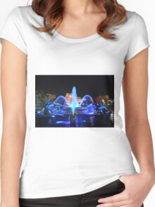 J.C. Nichols Fountain in Royal Blue Women's Fitted Scoop T-Shirt