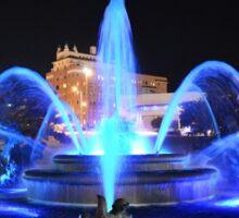 J.C. Nichols Fountain in Royal Blue Sticker