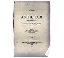Civil War Maps 0073 Atlas of the battlefield of Antietam Poster