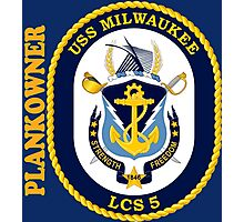 LCS-5 USS Milwaukee Plankowner for Dark Photographic Print