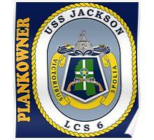 LCS-6 USS Jackson Plankowner for Dark Poster