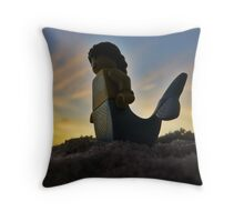 Mermaid Sunset Throw Pillow