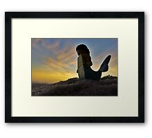 Mermaid Sunset Framed Print