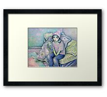 Born To Sit Framed Print