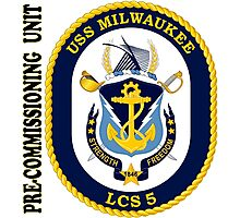 LCS-5 USS Milwaukee Pre-Commissioning Unit Photographic Print