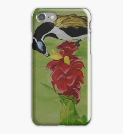 """Blue Faced Honey Eater"" iPhone Case/Skin"