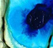 Blue And Green Art - Pools - Sharon Cummings Sticker
