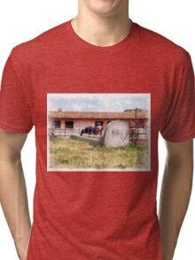 Stall and cow Tri-blend T-Shirt