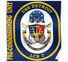 LCS-7 USS Detroit Pre-Commissioning Unit Poster