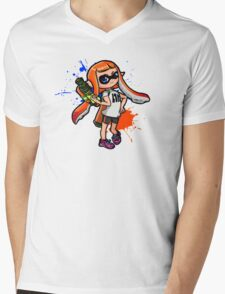 Splatoon Girl Mens V-Neck T-Shirt