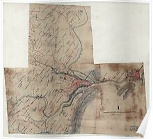 Civil War Maps 1883 Vicinity of Harpers Ferry Poster