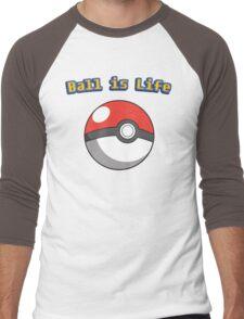 Ball is Life - Pokeball Men's Baseball ¾ T-Shirt