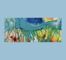 Abstract Art - Journey To Color - Sharon Cummings Baby Tee