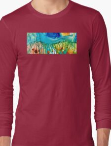 Abstract Art - Journey To Color - Sharon Cummings Long Sleeve T-Shirt