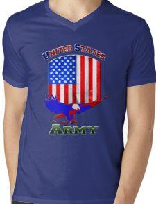 Uniter States Army Mens V-Neck T-Shirt