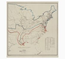 Civil War Maps 0496 Historical sketch of the rebellion United States One Piece - Short Sleeve