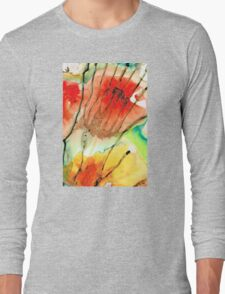 Abstract Red Art - The Promise - Sharon Cummings Long Sleeve T-Shirt