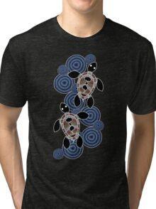 Aboriginal Art Authentic - Sea Turtles Tri-blend T-Shirt