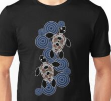 Aboriginal Art Authentic - Sea Turtles Unisex T-Shirt