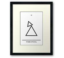 Minimalist Tarot - The Fool Framed Print