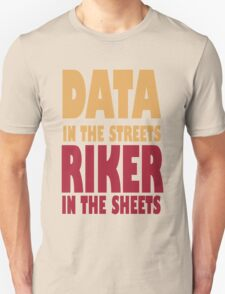 Riker Data funny nerd geek geeky T-Shirt