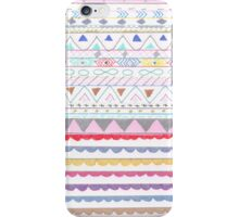 Modern hand painted colorful aztec trendy patterns iPhone Case/Skin