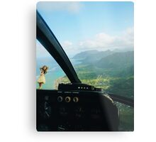 Helicopter Ride in Hawaii Metal Print