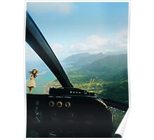 Helicopter Ride in Hawaii Poster