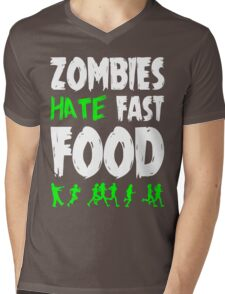 Zombies hate fast food Mens V-Neck T-Shirt