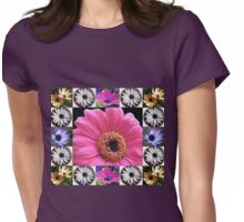 Dazzling Daisies Collage Womens Fitted T-Shirt