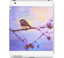 Black Cap Chickadee Winter Twilight iPad Case/Skin