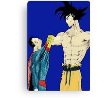 Superman vs Goku Canvas Print