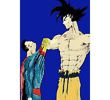 Superman vs Goku Photographic Print