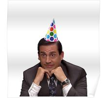 michael scott wearing party hat Poster