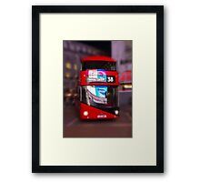 Big Red Bus Framed Print