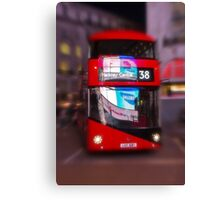 Big Red Bus Canvas Print