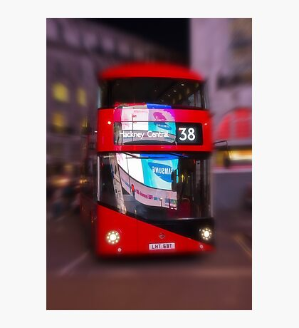 Big Red Bus Photographic Print
