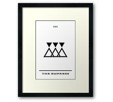 Minimalist Tarot - The Empress Framed Print