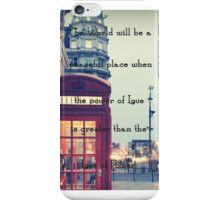 Power vs Love Quote  iPhone Case/Skin