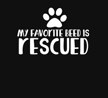 My favorite breed is rescued Women's Fitted Scoop T-Shirt