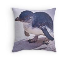 Grumpy Penguin Throw Pillow
